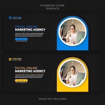 Digitale online-marketing-agentur werbung facebook cover banner vorlage