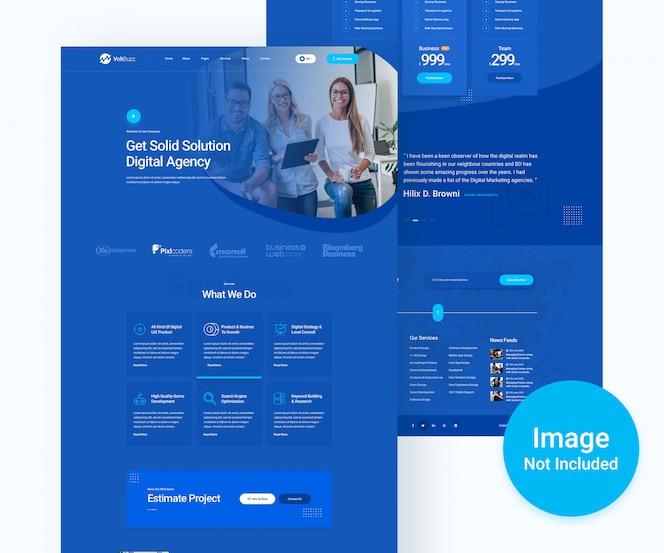 Digitales agentur- und business-psd-website-design