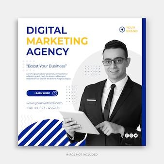 Digitales business-marketing-social-media-post-banner oder quadratischer flyer