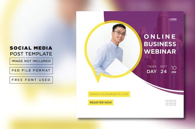Digitales marketing business webinar social media post vorlage premium psd