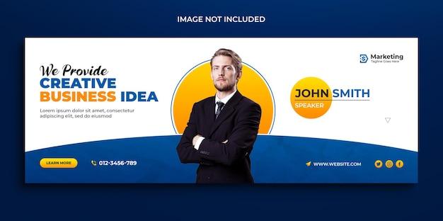 Digitales marketing corporate facebook-cover-timeline-webbanner und social-media-cover-vorlage