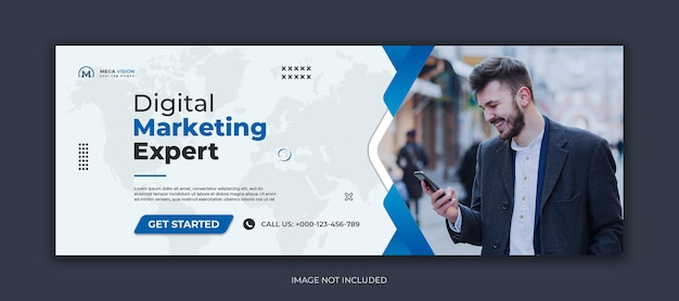 Digitales marketing corporate social media facebook-cover und web-banner-vorlage