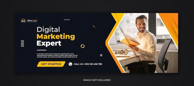Digitales marketing corporate social media facebook-cover-vorlage