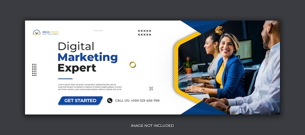 Digitales marketing corporate social media facebook cover web-banner-vorlage