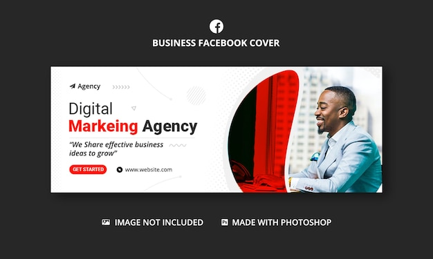 Digitales marketing facebook cover banner vorlage