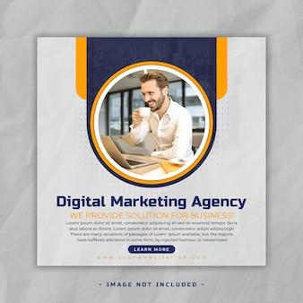 Digitales marketing fsocial media post banner vorlage premium psdacebook