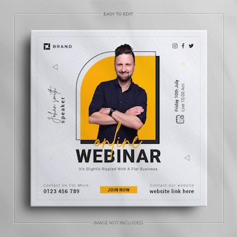 Digitales marketing live-webinar social media instagram webbanner-vorlage
