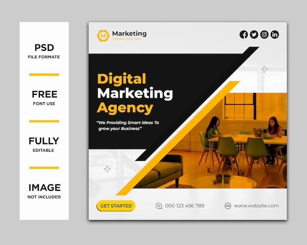Digitales marketing social media oder instagram beitragsvorlage psd premium