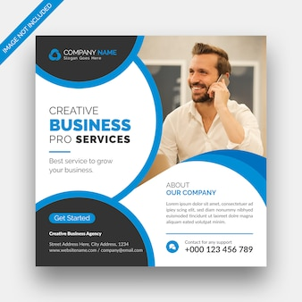 Digitales marketing social media post banner & square flyer template design