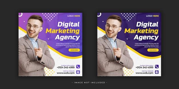 Digitales marketing social media posttemplate premium psd