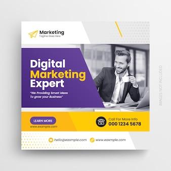 Digitales marketing und corporate social media instagram post und web-banner-design-vorlage
