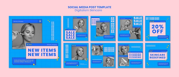Digitalismus hautpflege social media post