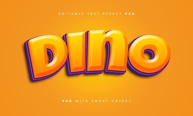 Dino-texteffekt