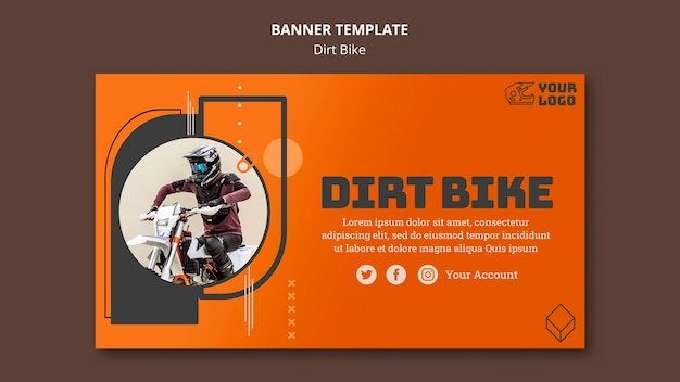 Dirt bike banner vorlage
