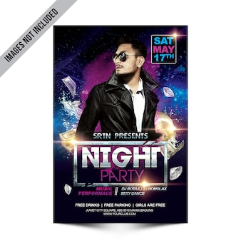 Disco-party-flyer-modell