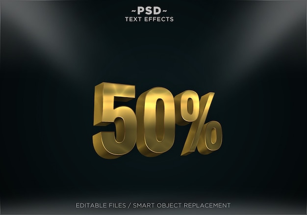 Discount gold texteffekt
