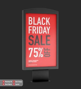 Display-modell für black friday isoliert