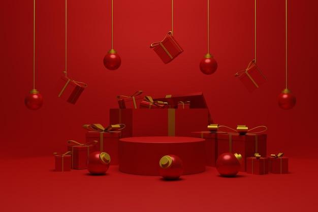 Display-podest-weihnachten für produktpräsentation