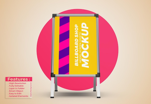 Display stand schild poster modell