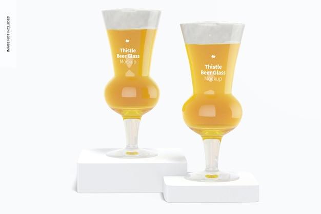 Distel biergläser mockup