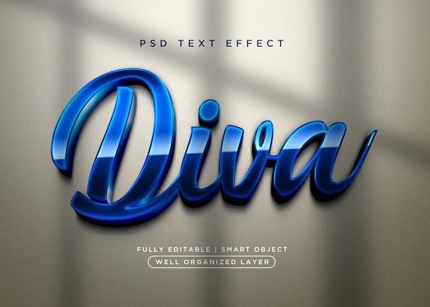 Diva-texteffekt im 3d-stil