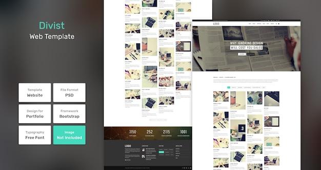 Divist portfolio web-vorlage