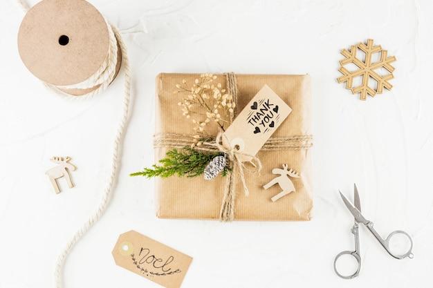 Diy geschenkbox-modell