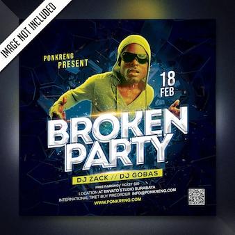 Dj night party flyer vorlage
