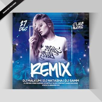 Dj remix nacht party flyer