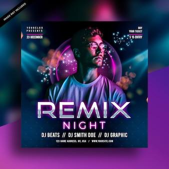 Dj remix party flyer