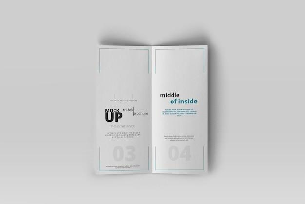 Dl bi-fold broschüre mockup