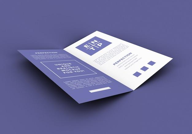 Dl bi fold broschüre modell
