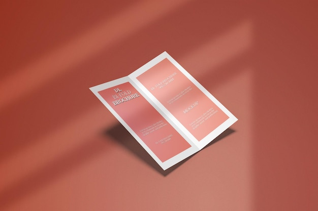 Dl bifold broschüre mockup