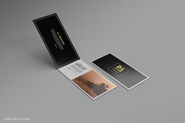 Dl broschüre flyer modell