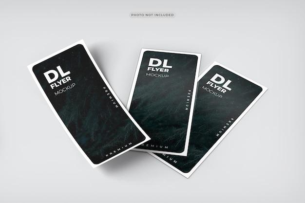 Dl flyer mockup design rendering