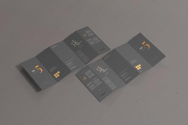 Dl size five fold brochure mockup