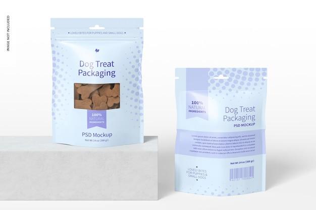 Dog treat packing mockup