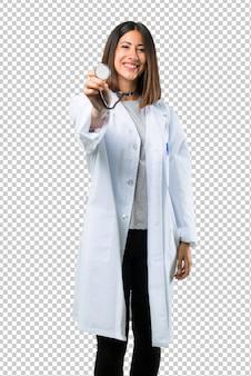 Doktorfrau mit stethoskop