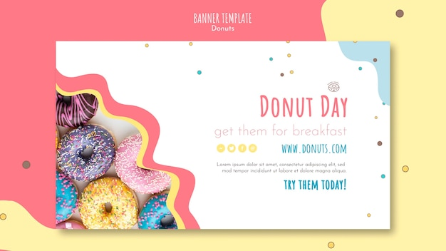 Donut-konzept-banner-vorlage