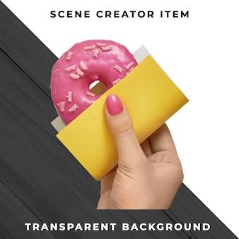 Donut transparente psd