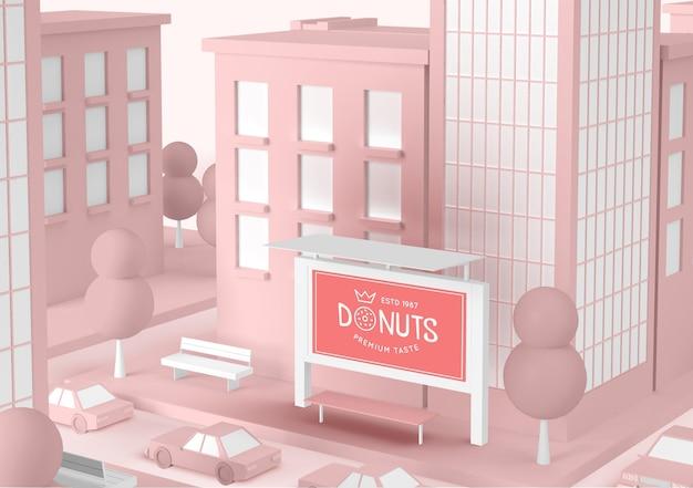 Donuts speichern außenwerbung