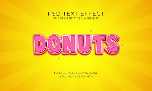 Donuts text effekt
