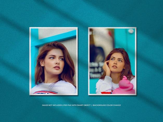 Doppelportrait-papierrahmen-fotomodell