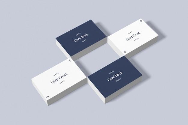 Doppelseitiges visitenkarten-modell