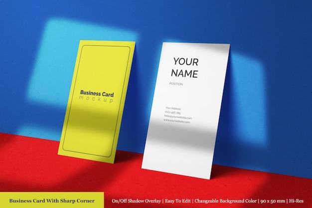 Doppelte premium-visitenkarten-vorlagen für unternehmen mit strukturiertem papier