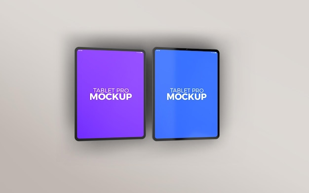 Doppeltes großes tablet pro mockup