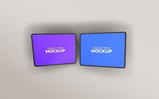 Doppeltes großes tablet pro-modell im querformat