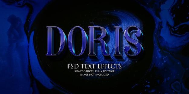 Doris texteffekt