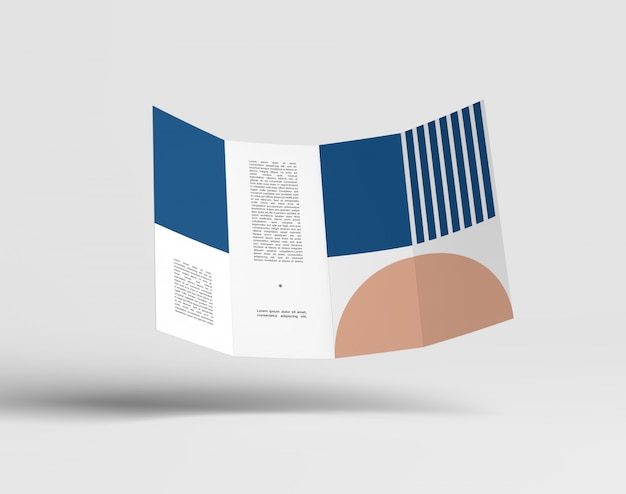 Double gatefold-broschürenmodell