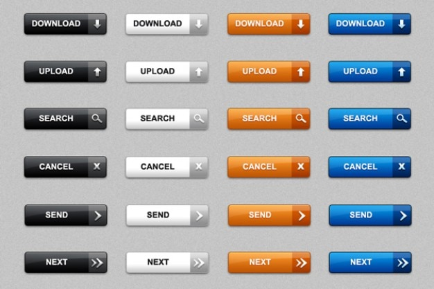 Download web-buttons im psd & png packung